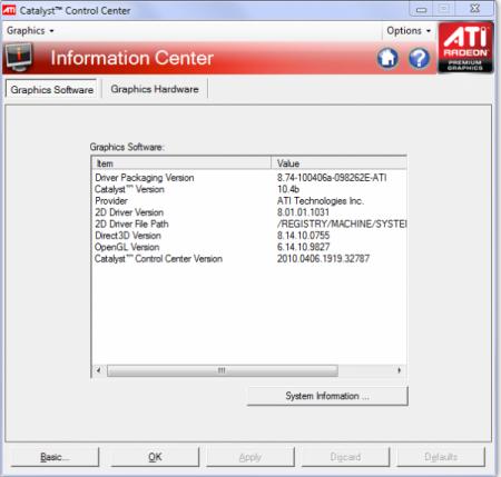 ATI Catalyst™ 10.6 Display Driver [х32/х64] (17.06.2010) PC
