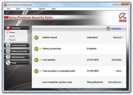 Avira AntiVir Premium Security Suite 9.0.0.75 Russian (2009) PC