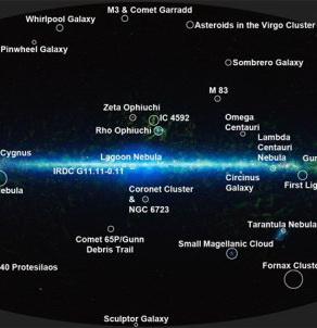 НАСА: Атлас звездного неба, содержащий более 500 миллионов космических объектов